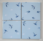 4 Ceramic Coasters in Sophie Allport Mini Swallows